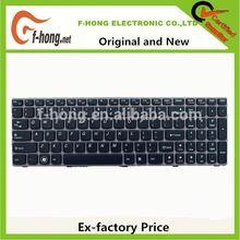 Genuine Original New Lenovo Laptop Keyboard Y570 US BLACK 25011801 MP-10K53US-686