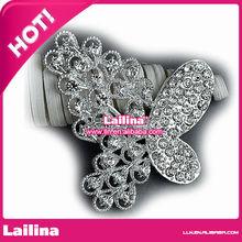 creative metal & crystal flower garment Rhinestone Buttons