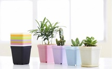 Colorful Planter Balcony Plastic Indoor Wall Mounted Flower Pot Wholesale