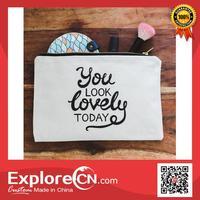 NEW ARRIVE small canvas zipper bag
