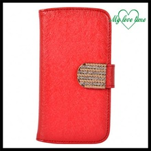 Fashionable 360 degree rotation stand leather case for Moto X pouch