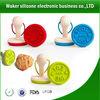 Food safe FDA LFGB standard silicone cookies stamp with wood handle