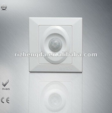 Rated voltage:110V/220V Light Sensitivity:10LUX Hot selling Wall Mount PIR Infrared Motion wire human sensor switch