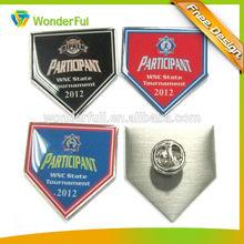 Promotional cheap custom high end national flag pin badge
