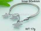 Hand work jewelry with star shaped charm cheap bangle bracelets