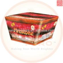 49S Fan Shape consumer peacock fireworks cake for sale