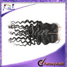 6A Grade 4*4 Lace Closure Virgin Brazilian Human Hair Deep Wave Closure Bleach Knot Free/Middle Part Closure Free Shipping