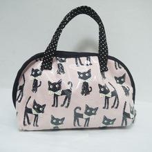 2014 New Cat Pattern PU Cosmetic women Travel bag , Make-up Bag
