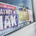 La publicité de doubles côtés en verre autocollant sur la fenêtre, en provenance de chine