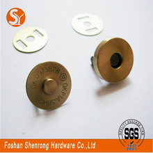european internal snap button magnetic fasteners/whiteboard magnetic button with nickel 18mm