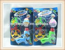 hot sale promotional flashing toy spin top gun
