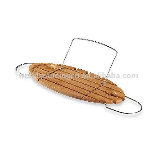 Beliebte design helen bambus badewanne caddy badezimmer regal ...