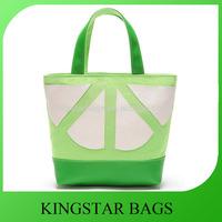 Innovative PU handle Canvas Bag Lady Handbag