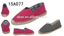 Small size women canvas slip shoe