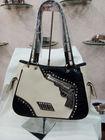 2014 new flat leather beautiful ladies handbags gun and bullets conchos