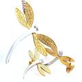 Muchachas para mujer Multicolor de plata / 18 k chapado en oro / azul de la libélula colgante de acero inoxidable collar de los pendientes de los animales sistemas de la joyería