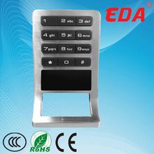 2014 EDA hot sale top class electronic metal cabinet sliding door lock hotel