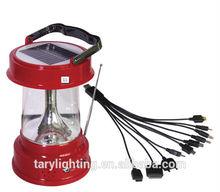 new type hotsale 3500mah multifunctional led solar lantern with FM function and USB chargern