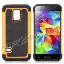 Football Pattern Silicone+PC Case for S5 Mini, Hybrid Case for Samsung Galaxy S5 Mini