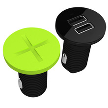 universal new design 2.1a car charger adapter for iPad|iPhone with dust cover