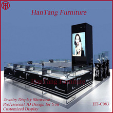 New Shopping Mall Jewelry Display Case, Jewelry Kiosk Design, Jewelry Display Cabinet Available NOW