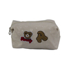 Cute bear canvas bag,new stylish promotion cosmetic bag for school girl