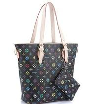 Leisure PU Handbag ,Flower Pattern Tote Bag