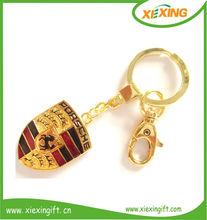 2014 promotion metal gold car logo keychain