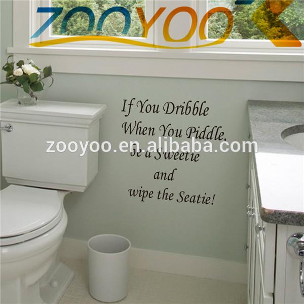 Toilet badkamer verwijderbare kunst muur citaat muurtattoo badkamer waterdichte muursticker - Originele toilet decoratie ...