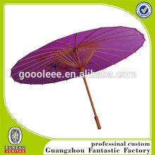 durable purple silk fabric printing bamboo umbrella