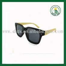 Custom engraved sunglasses black acetate frame, bamboo legs with engrave logo
