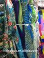 100% chiffon de seda tecido estampado floral