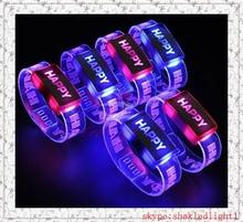 Party Supplies promotion remote controlled led bracelet,wedding decration custom light bracelet