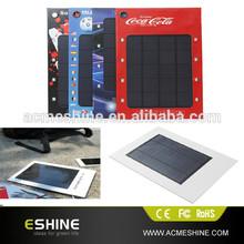 1000mah 1pcs battery solar ad charger , paper ad solar charger , charger soalr paper