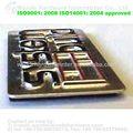 Melhor design- venda de níquel matt redonda oca de metal logo