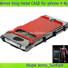 Mobile phone case Armor king metal shockproof case for iphone 4 4s, for iphone 4 case metal ,for iphone case 4s 5s 6 metal