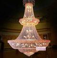 Gran lámpara de araña de cristal champ, araña de cristal de la mesita de luz de la lámpara