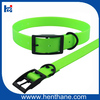 Fluo Green Luxury Dog Collars with Black Buckle for Hunting