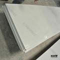 bianco puro strato di superficie solido pannelli in pietra faux