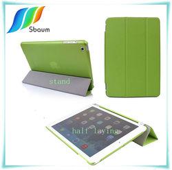 for mini ipad case,for ipad leather case,THREE FOLDS case for ipad
