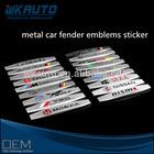 new design zinc alloy metal 3D car tuning emblems stickers