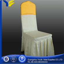 plain fashion design polyester chair cover with organza sash china manufacturer supplier