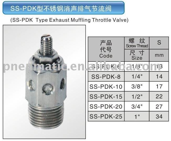 SS-PDK Type stainless steel exhaust muffler