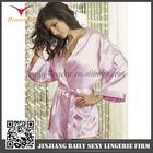 Elegant individual trendy fashion women in silk satin lingerie