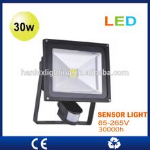 CE certificated cordless super bright cheaper COB color change LED flood light sensor