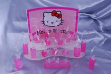 Sweet HOLLE KITTY Design Acrylic Cosmetic Display Lipstick Stand Holder for Display