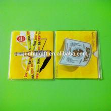 hot sale clear vinyl business name card holder, credit card pocket