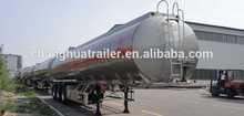 3 axle 52000L aluminum fuel tanker semi trailer storage tank