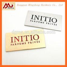 rectangle engraved logo metal hardware/metal label design for shoes