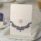 Elegant Pearl Wedding Invitation with Laser Cut Cover CW502